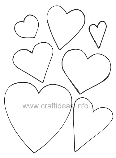 Free Craft Patterns and Templates - Hearts Templates