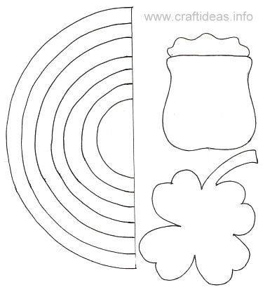 Free Craft Template - St Patricku0027s Day - Rainbow B - shamrock template
