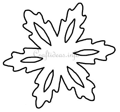 Christmas Template or Pattern - Snowflake Template 2 - snowflake template