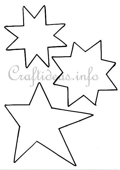 Christmas Crafting with Kids - Stars Templates - star template