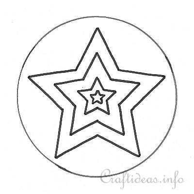 Star Template for Mosaic Star Window Cling Decoration - star template