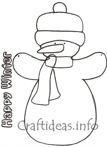 Christmas Wood Craft - Happy Winter Snowman Door Sign
