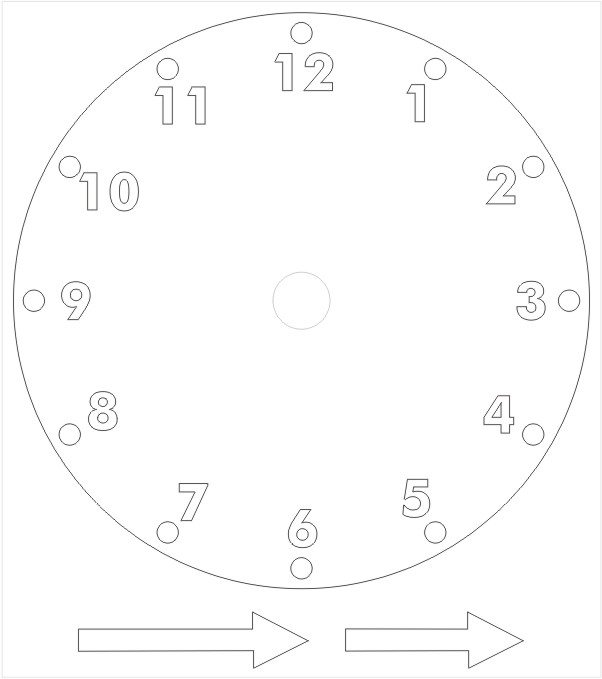 Printable Paper Clock Template \u2013 Craft Ideas for Kids