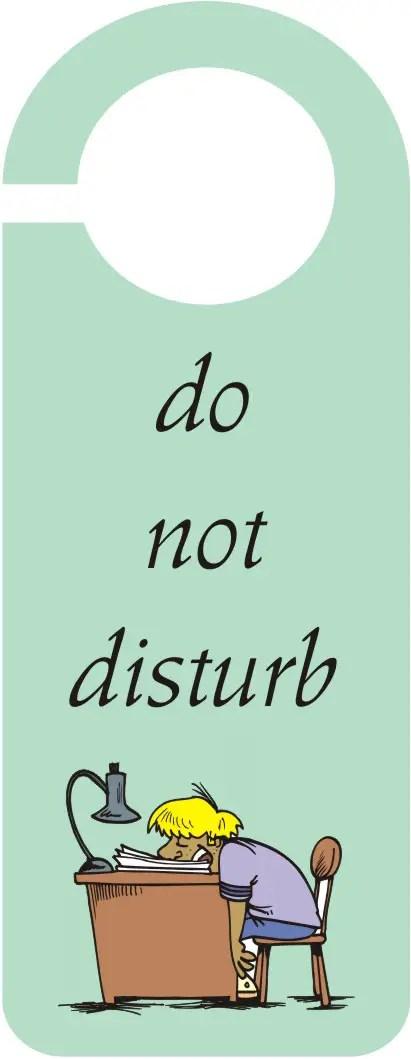 Do Not Disturb\u201d Door Hanger \u2013 Craft Ideas for Kids