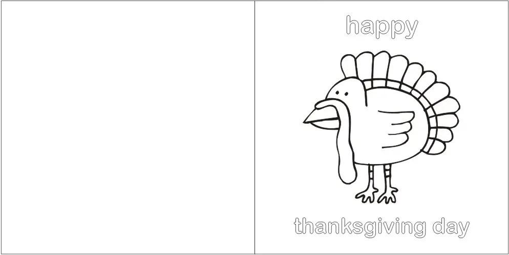 Printable Thanksgiving Greeting Card \u2013 Craft Ideas for Kids