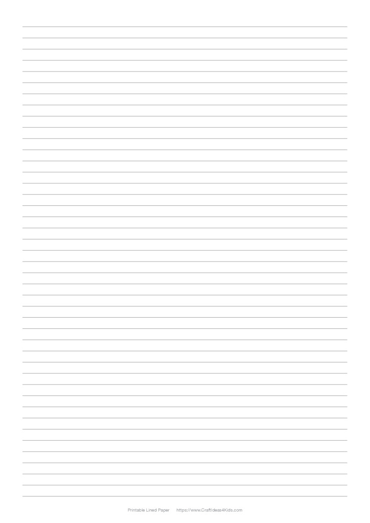 Printable Lined Paper \u2013 Line Spacing 4 Lines Per Inch \u2013 Craft Ideas