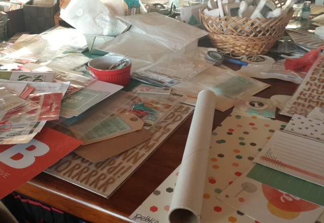 Kickstart my scrapbooking by cleaning my messy desk
