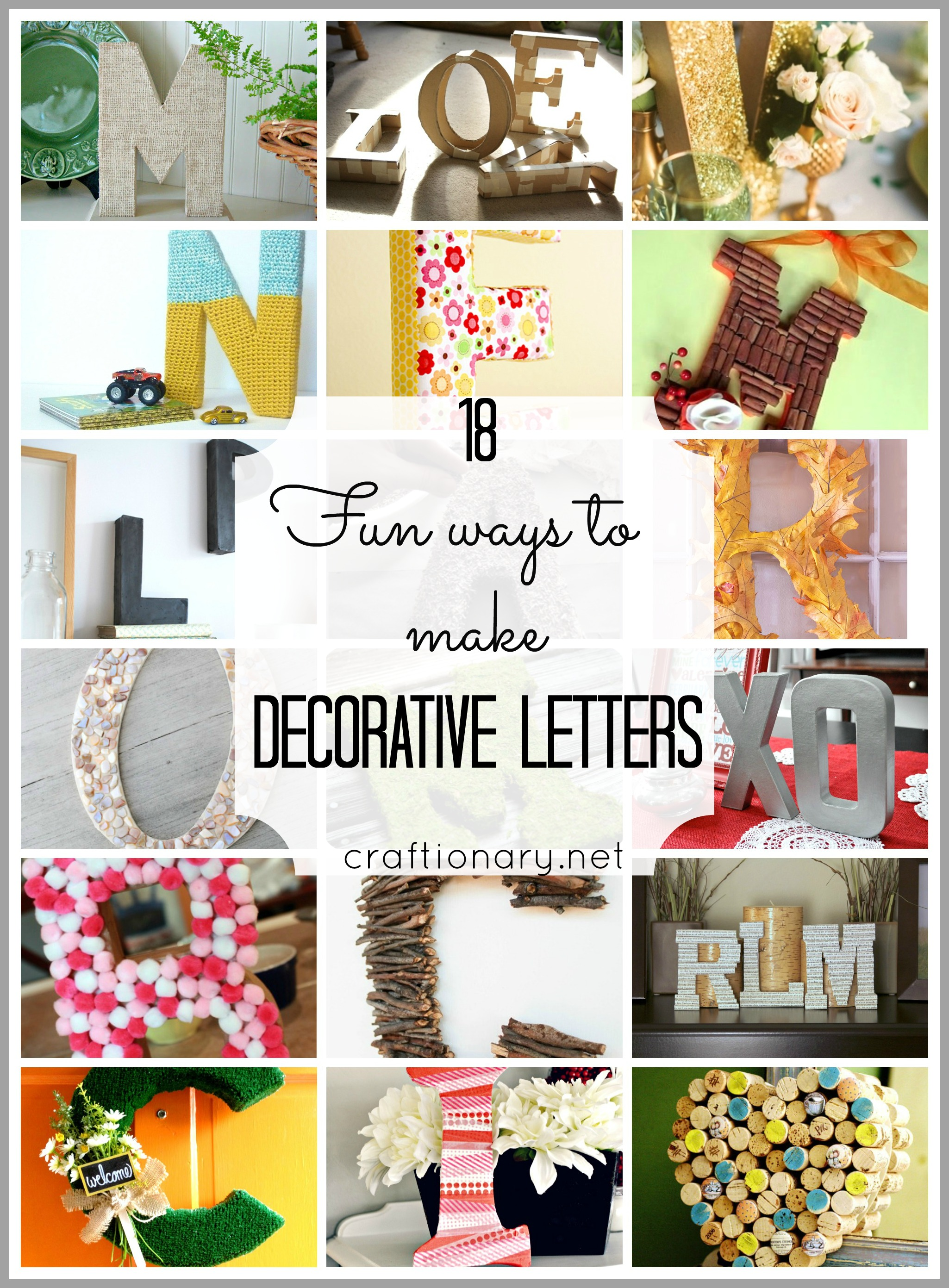 Foam letters for crafts - Foam Letters For Crafts 18 Ways To Make Decorative Letters Easy And Creative Download