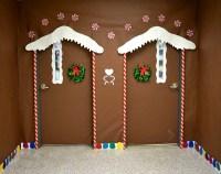 Gingerbread Door & Twin Ginger Bread House Christmas Door