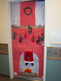 santa door decoration | Decoration For Home