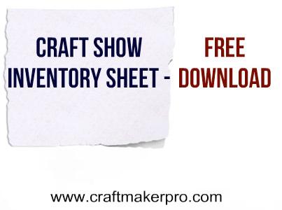Craft Show Inventory Sheet \u2013 Free Download Craft Maker Pro
