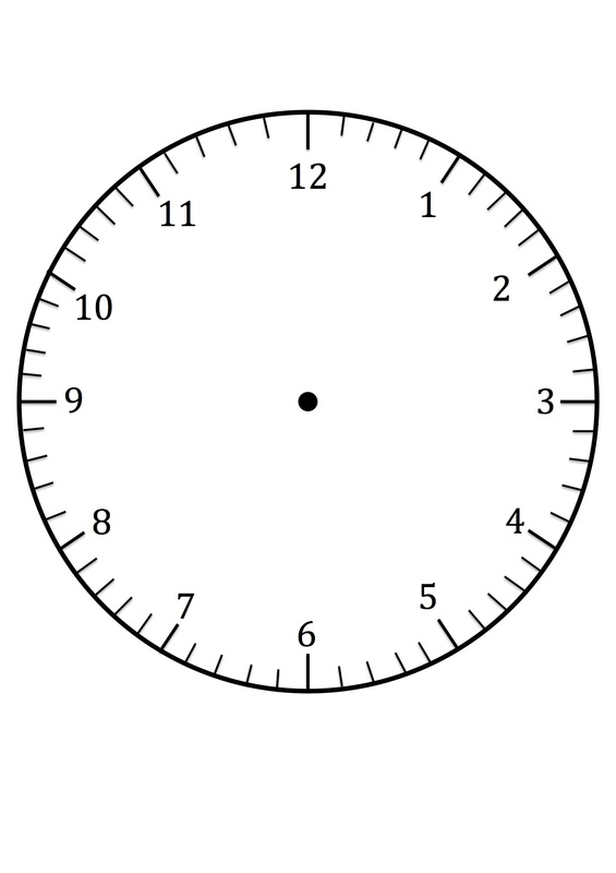 Clock Faces for use in learning to tell the time - CRAFT \u0027N\u0027 HOME - face template printable