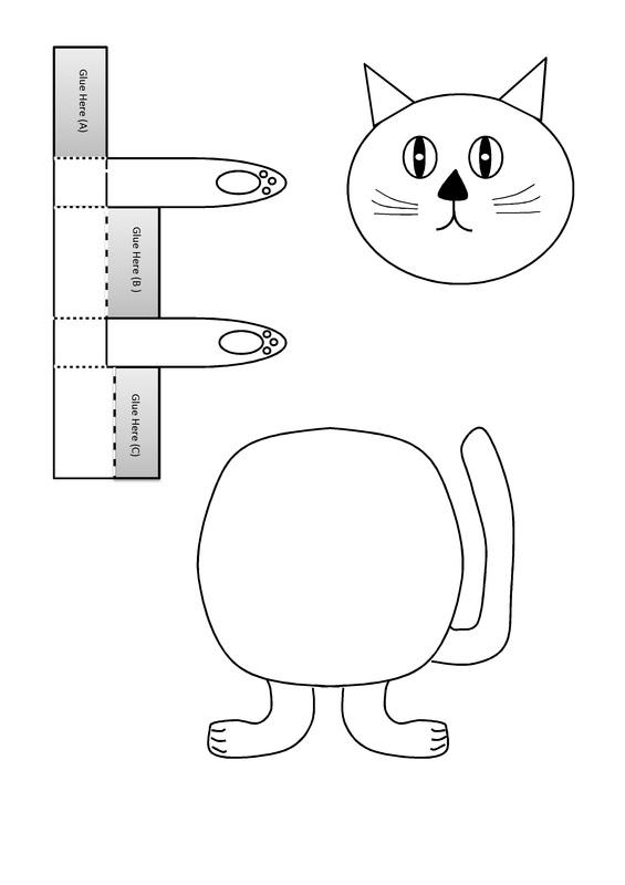 Dancing Cat Puppet Craft for Kids - CRAFT \u0027N\u0027 HOME - puppet templates