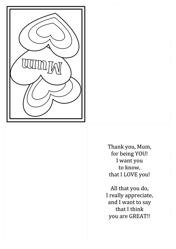 Free Mother\u0027s Day card printable templates - CRAFT \u0027N\u0027 HOME