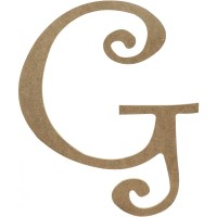 "14"" Decorative Wooden Curly Letter: G [AB2151 ..."