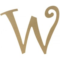 """14"""" Decorative Wooden Curly Letter: W [AB2167 ..."""