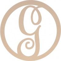 "23"" Script Circle Monogram Wooden Letter: G [AB2240 ..."