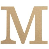 "10"" Decorative Wood Letter: M [AB2037] - CraftOutlet.com"