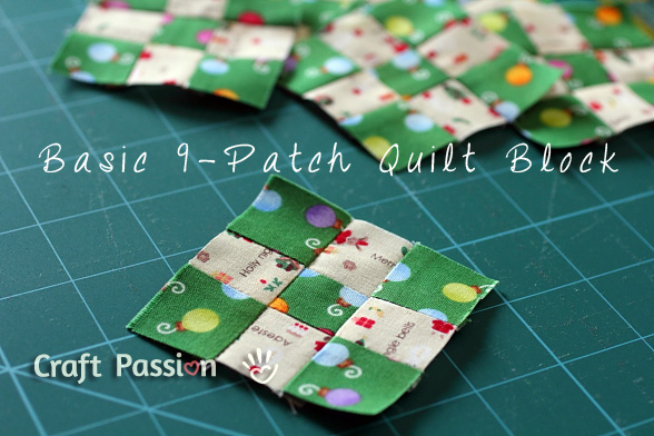Basic 9 patch quilt block free quilt pattern craft passion
