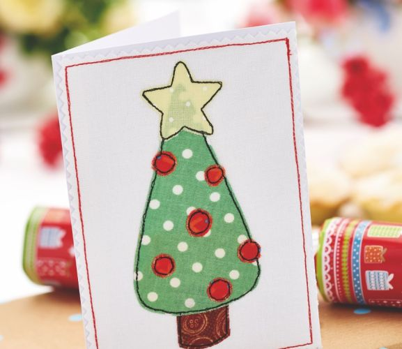 Appliqué Christmas Card Templates - Free Card Making Downloads