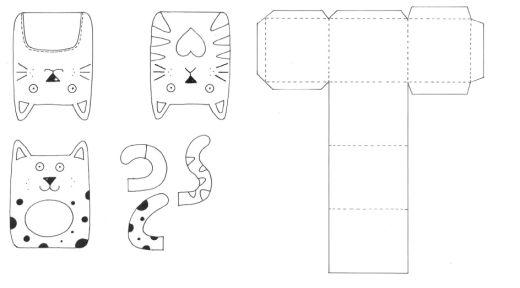 Cat Motifs  Gift Box Templates - Free Card Making Downloads Card - gift box templates free download