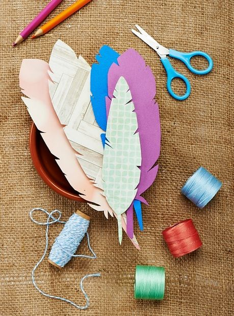 Stylish Feather Template - Free Card Making Downloads Papercraft