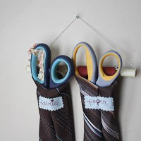 How-To: Craft a Hanging Scissors Organizer from  Recycled Neckties