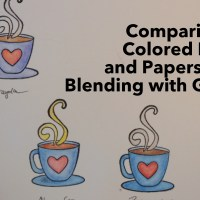 Comparison of Colored Pencils and Paper When Blending with Gamsol