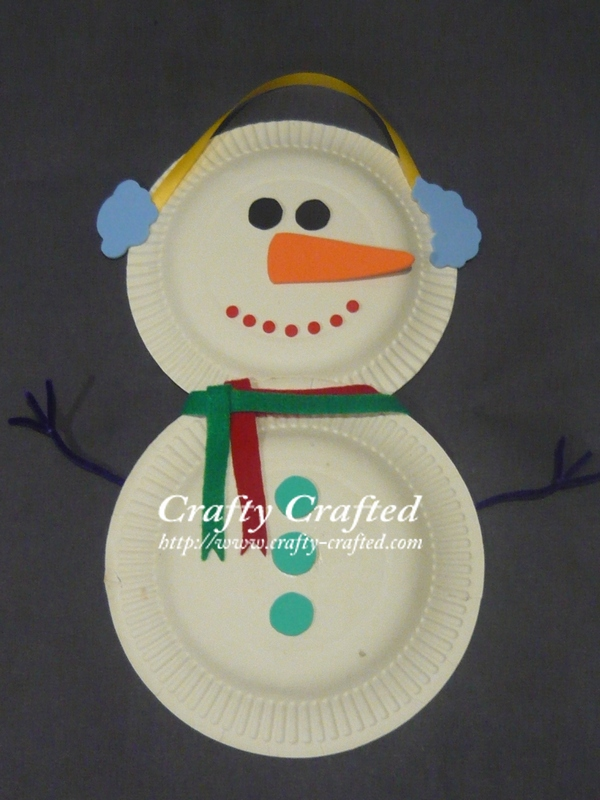 Crafty crafted com crafts for children 187 snowman