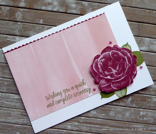 Healing Hugs for a get well card - Crafty-rootes