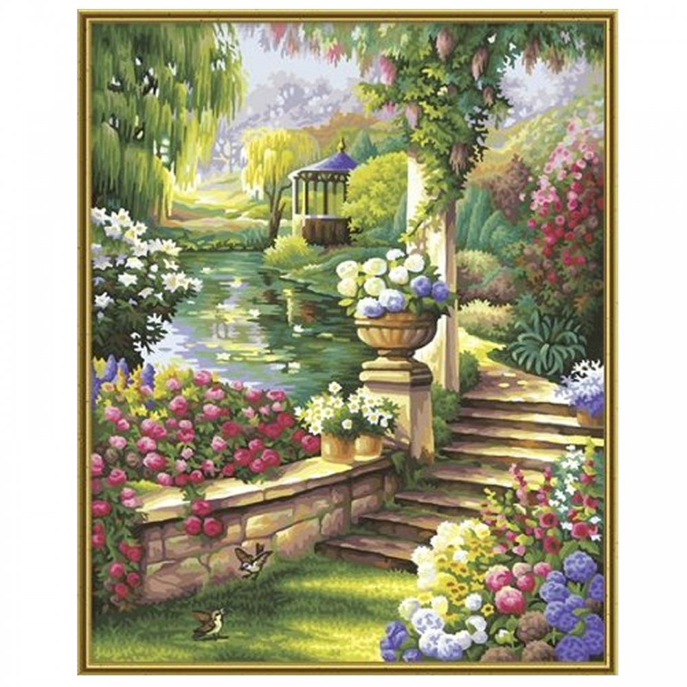 3d Wallpaper For Home Wall India Premium Paint By Numbers Paradise Garden Schipper From