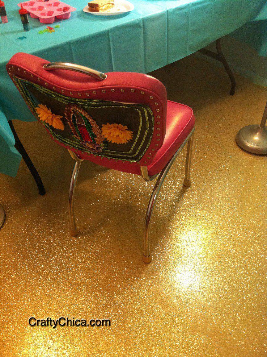 Diy Glittered Floor The Crafty Chica