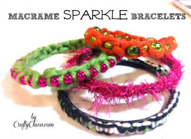 Easy Macrame Bracelet Tutorial The Crafty Chica
