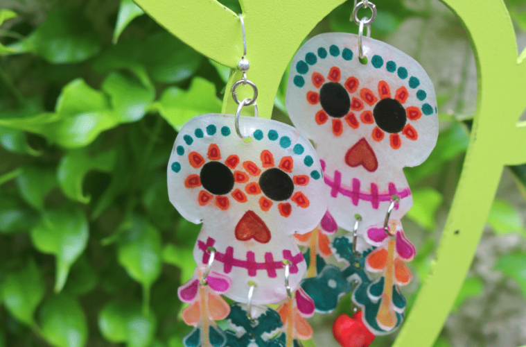 Disney Pixar Coco inspired Sugar Skull Earrings