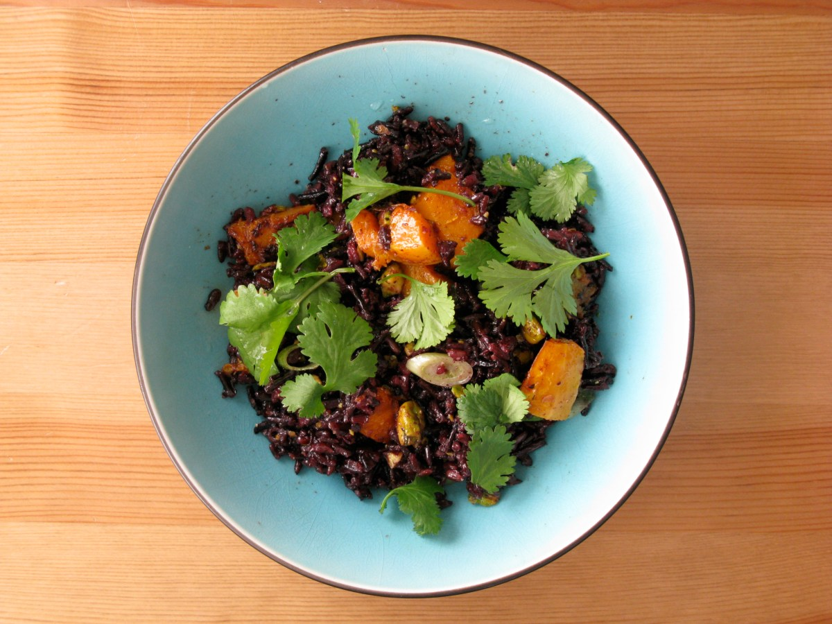 Black and Wild Rice Salad with Roasted Squash: A Healthy Start to 2014 and 2013's Most Viewed Crafty Cook Nook Recipes
