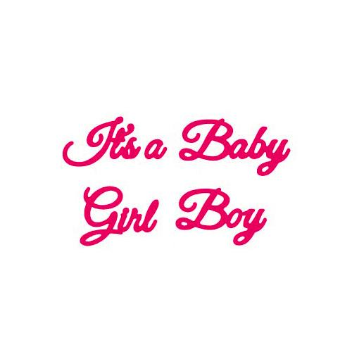 Presscut Cutting And Embossing Stencil - Its A Baby Boy Girl PCD125