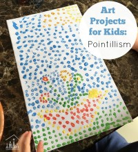 Fun Painting Idea for Kids: Pointillism - Crafty Kids at Home