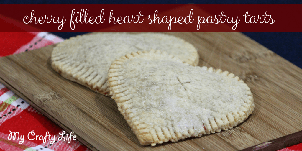 Cherry Filled Heart Shaped Pastry Tarts