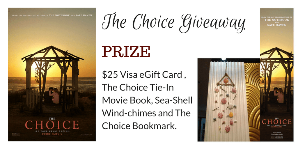 The Choice - Opens February 5th #Giveaway