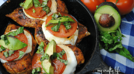 Caprese Cast Iron Chicken Meal