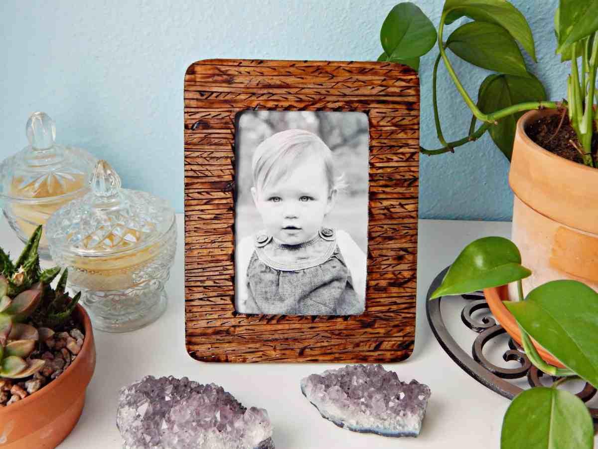 Wood Burned Picture Frame DIY