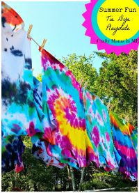 How to Host a Summer Fun Tie Dye Playdate - Crafty Mama in ME!