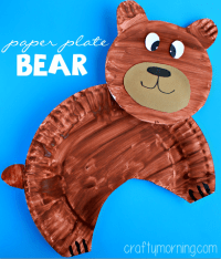 Paper Plate Bear Craft for Kids - Crafty Morning