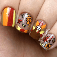 Crafty Thanksgiving Nail Ideas to Try - Crafty Morning