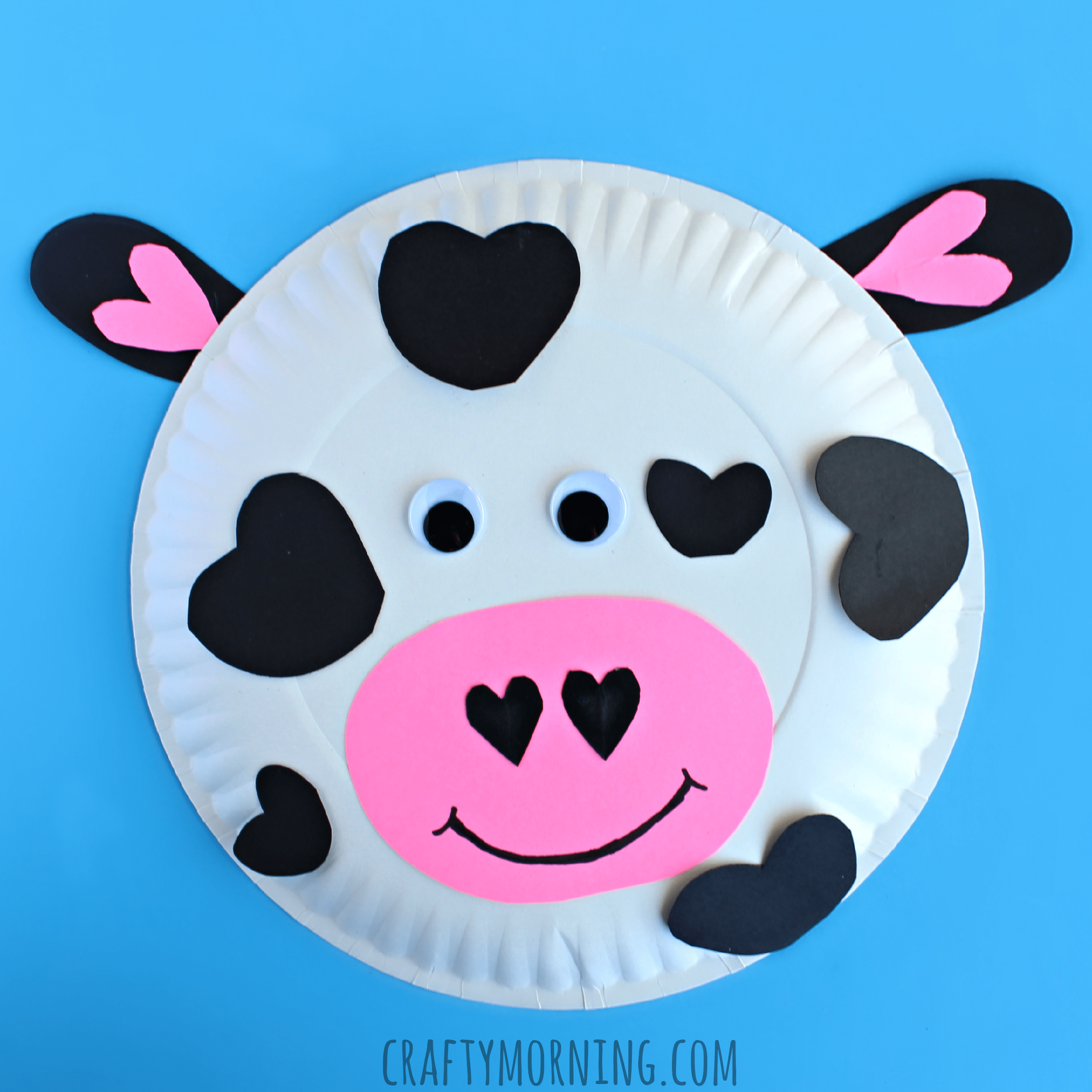 Paper Plate Cow Valentine Craft For Kids Crafty Morning