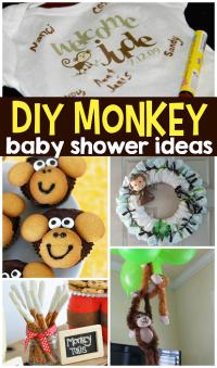 DIY Monkey Baby Shower Ideas - Crafty Morning