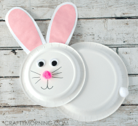 Paper Plate Bunny Rabbit Craft for Kids - Crafty Morning