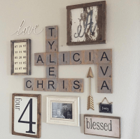 Family Wood Scrabble Wall Art - Crafty Morning
