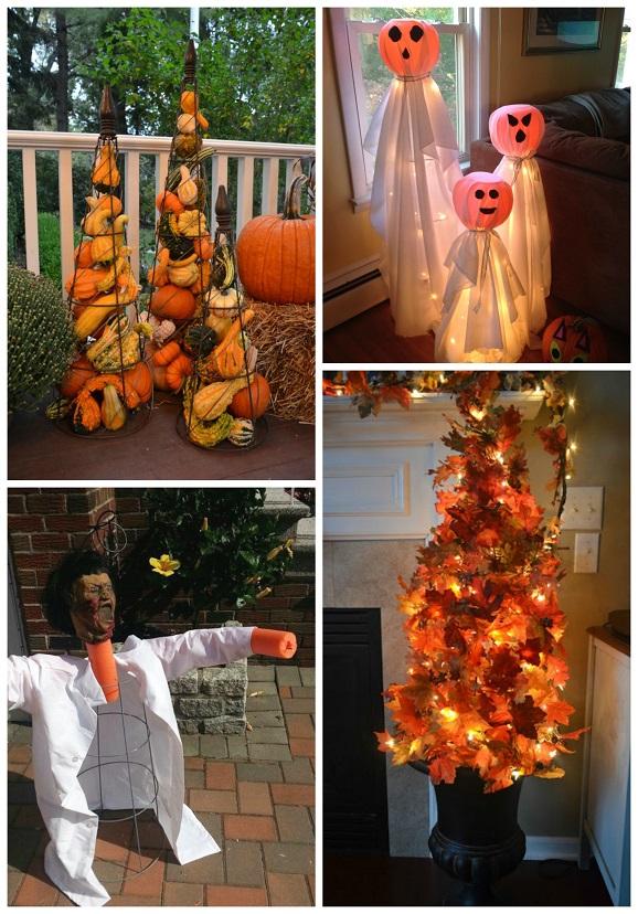 Tomato Cage Halloween Decorations