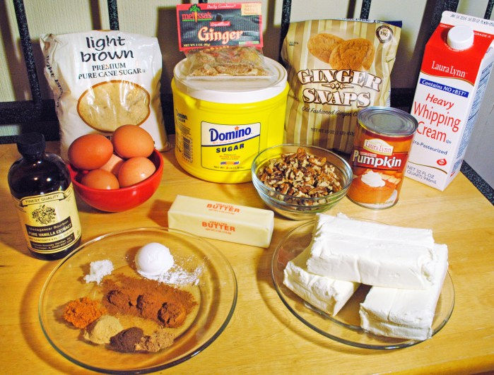 pumpkin cheesecake ingredients